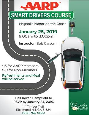 AARP Smart Driving Course Magnolia Manor Richmond Hill