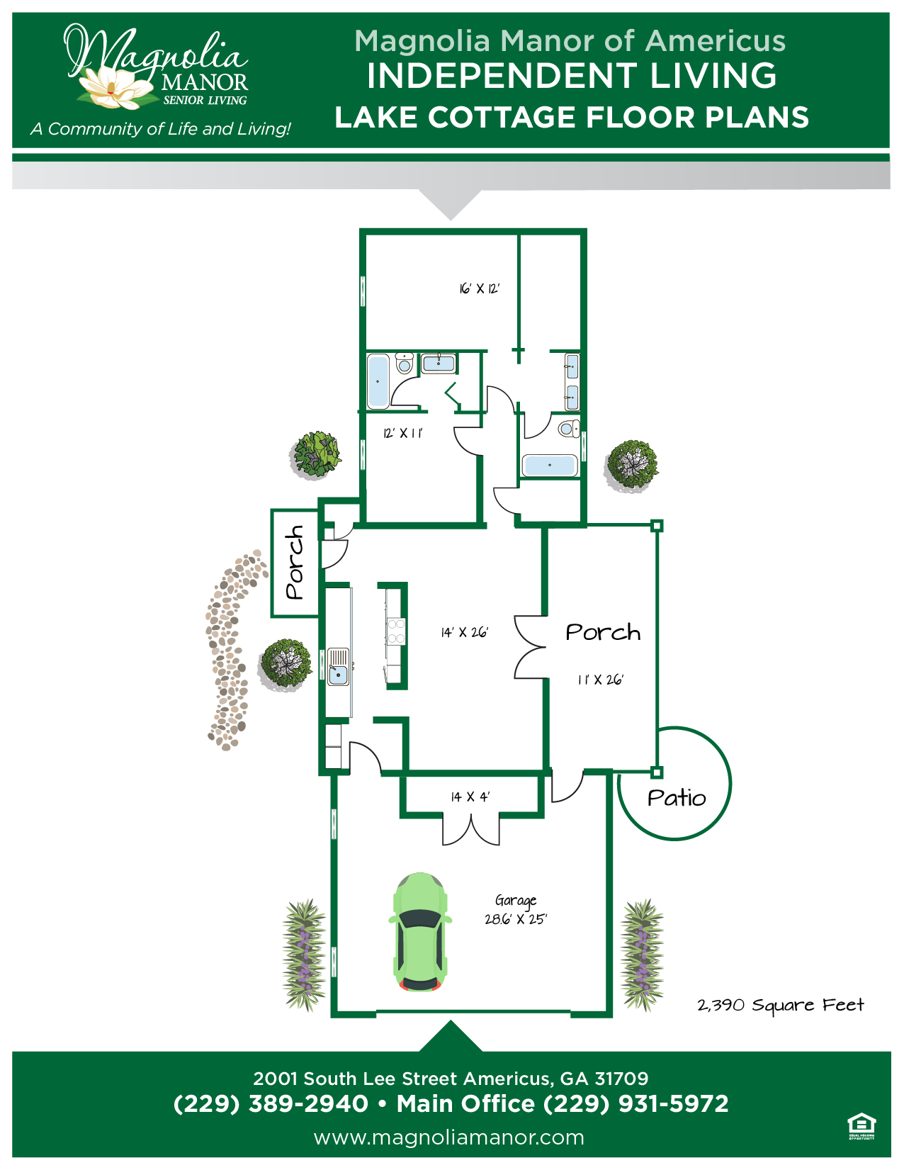 00344 AMERICUS Floor Plan COTTAGE A-01FIXED