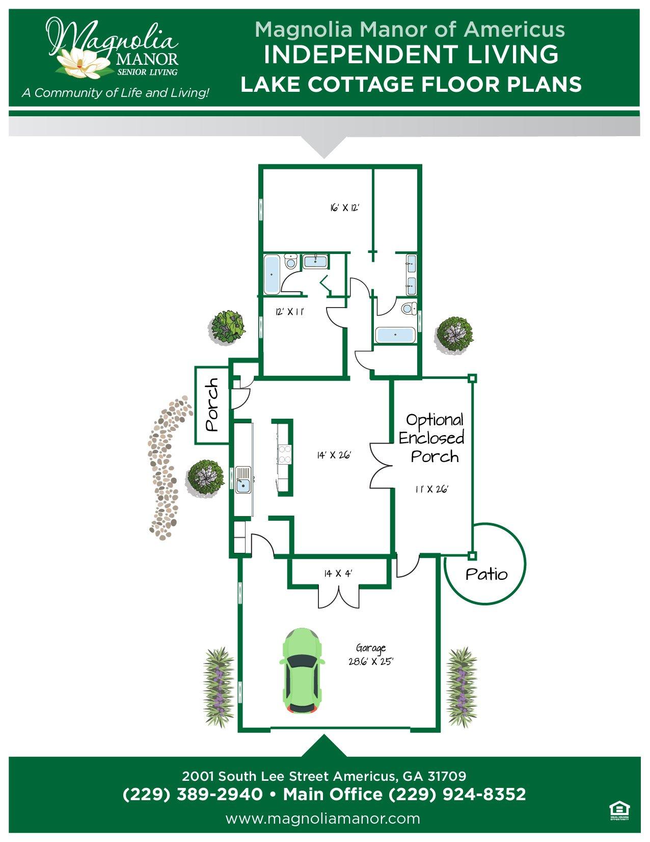 00344 AMERICUS Floor Plan COTTAGE A-01