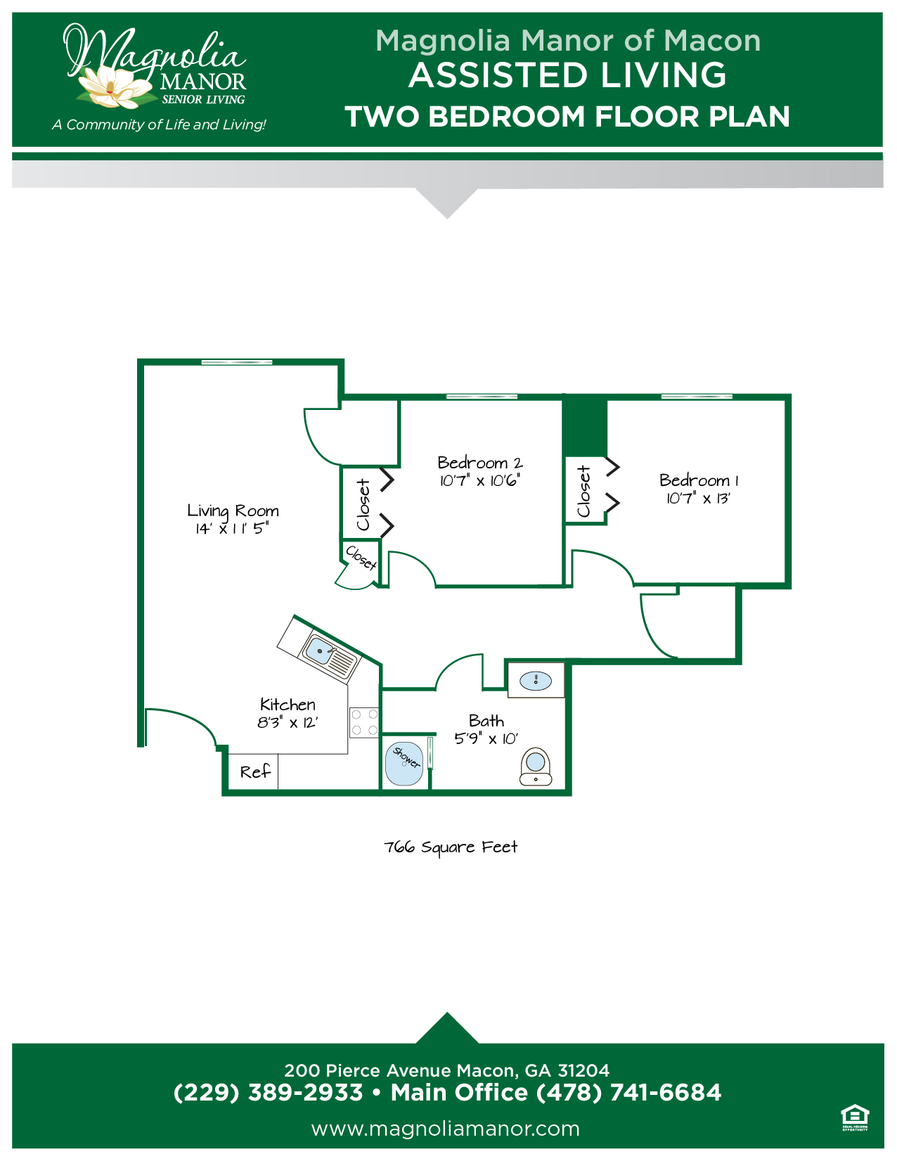 00344 MACON AL Floor Plan two Bedroom-01