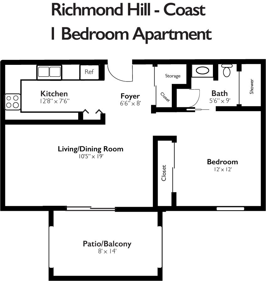 Richmond Hill Coast 1 Bedroom Apartment