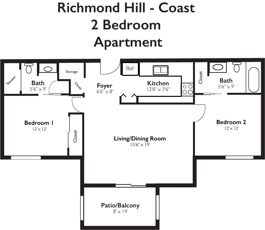 Richmond Hill Coast 2 Bedroom Apartment