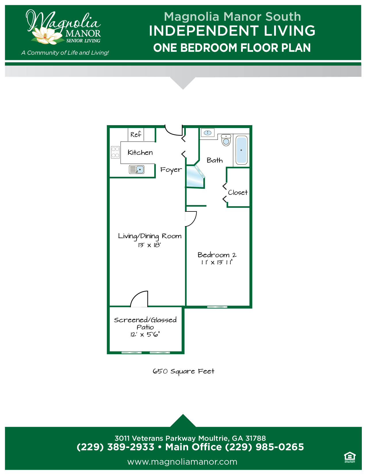 00344 MOULTRIE IL Floor Plan One Bedroom-01