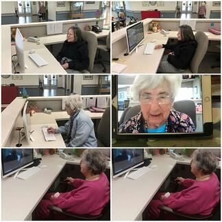 senior living facetime at magnolia manor