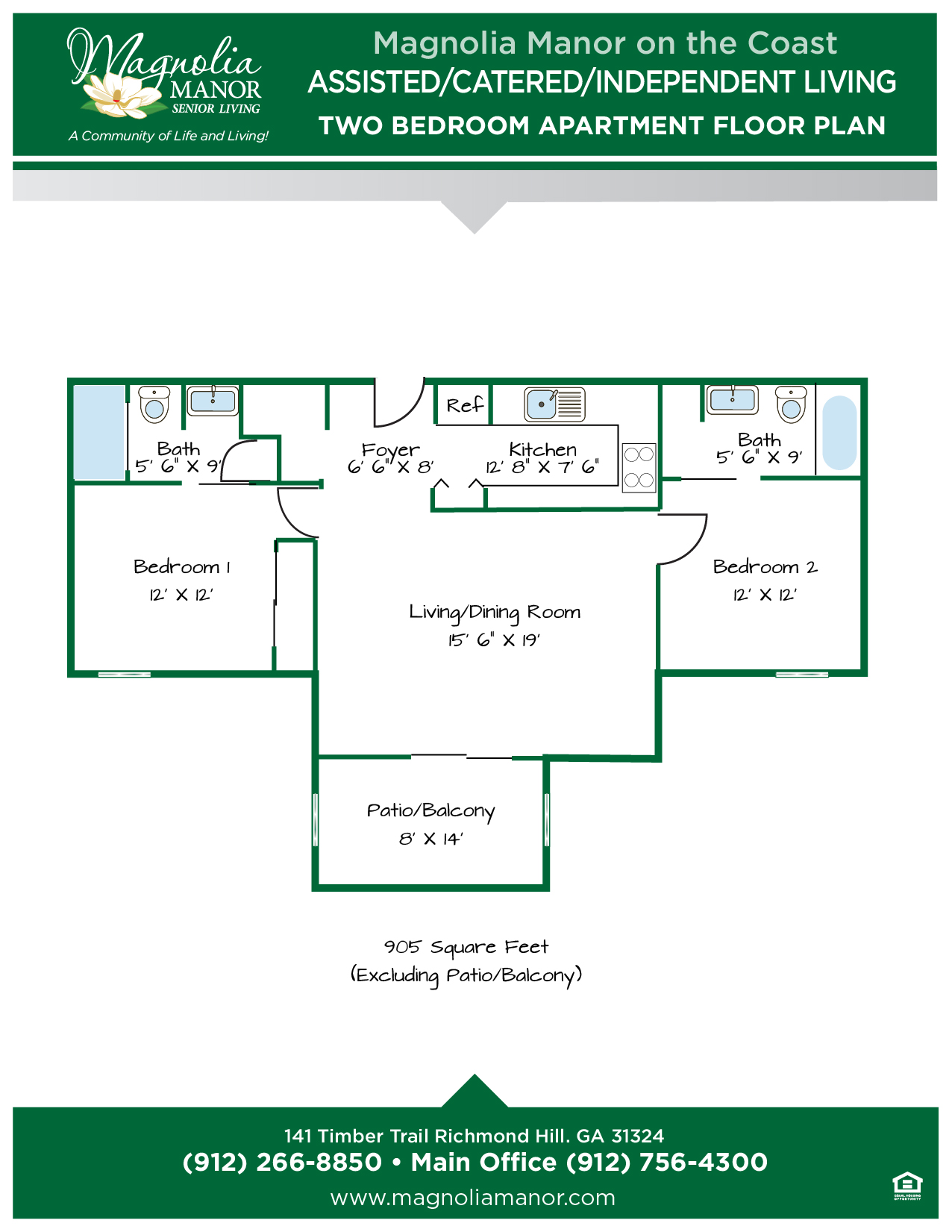 00344 Richmond Hill TWO Bedroom Apartments Floor Plans-01