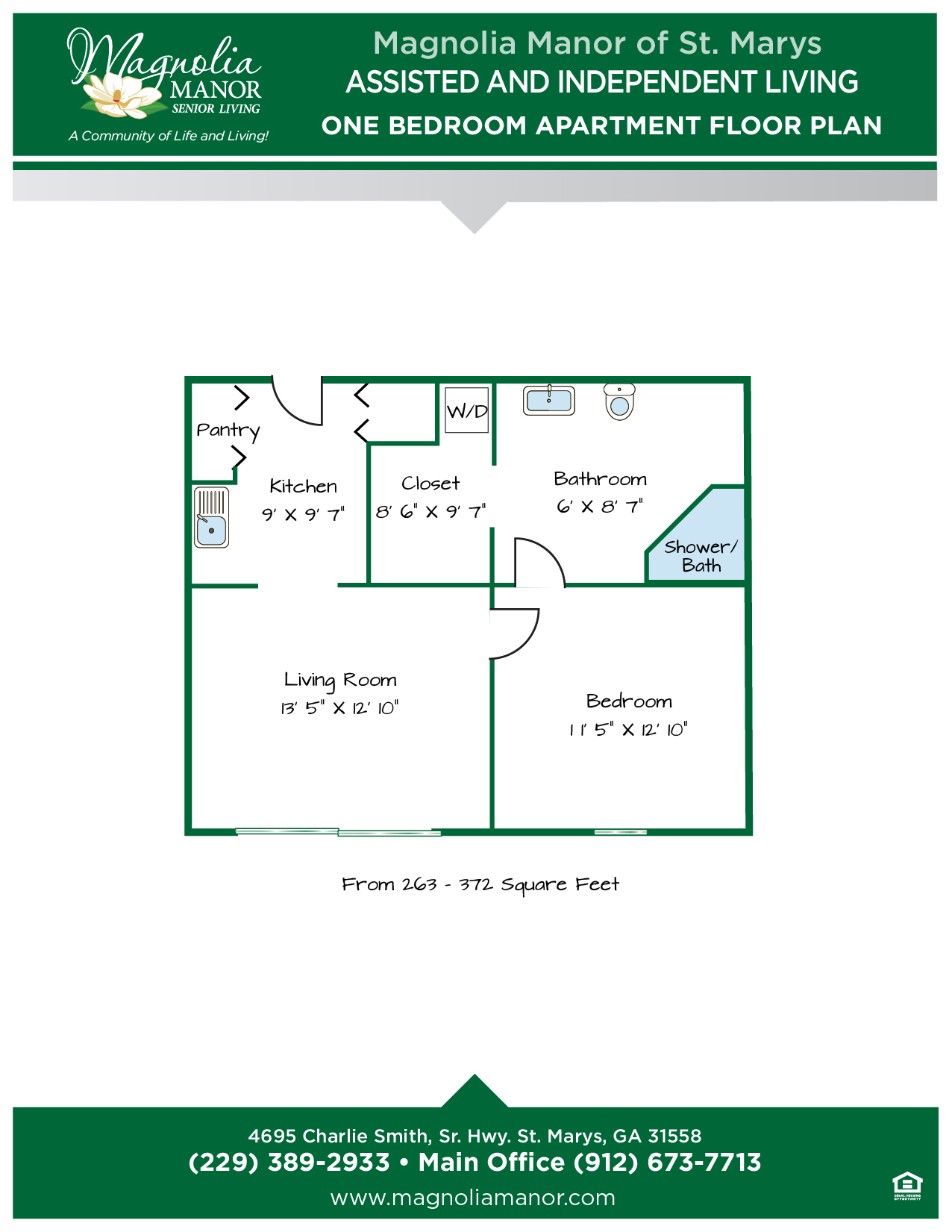 00344 St Marys One Bedroom Apartment Floor Plans AL & IL 2019-01