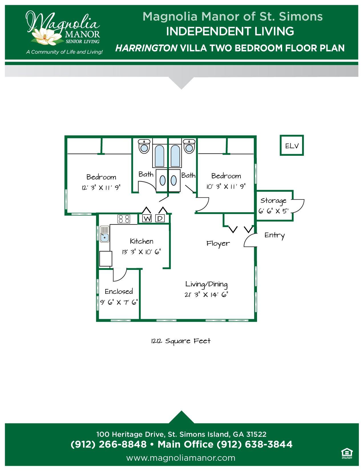 00344 St Simons IL HARRINGTON VILLA Floor Plans 2019-01