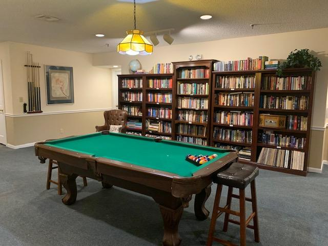 St. Simons Library with Pool Table